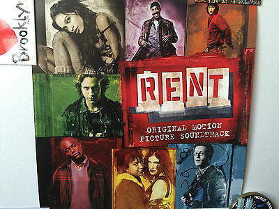 RENT the movie lobby card 2005 signed by Anthony Rapp