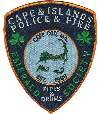 Cape & Islands Emerald Society Pipes & Drums Est 1998 Cape Cod, Ma.   Fire Patch