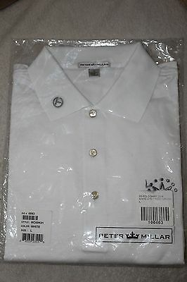 Rare Brand New Scotty Cameron White-Large Polo Shirt Peter Millar