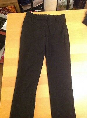 Girls Black School Trousers Age 12-13 Years M&S