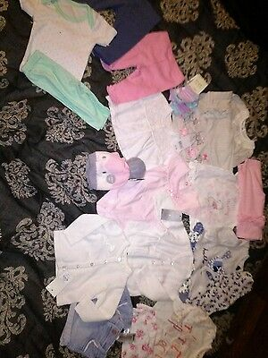 Baby girls 0-3 months clothes bundle. Lots new, Lots of outfits.
