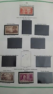 timbres france neufs 1940