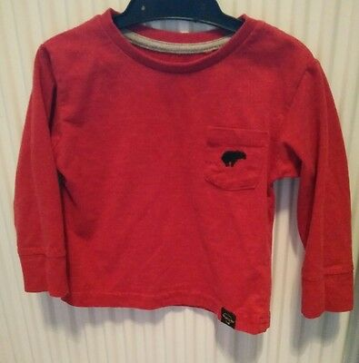 river island 9-12 months red long sleeve boys top