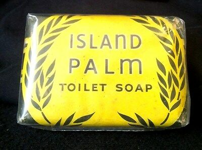 Vintage Soap Bar Unopened: Island Palm Toilet Soap, Wrisley Usa