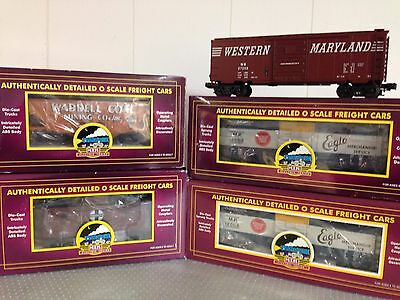 Lot of 5 MTH Premier O scale freight cars - All C8 4/boxes.