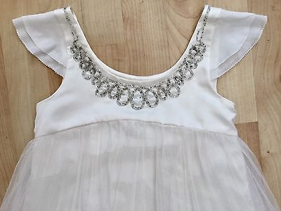 Monsoon Girls Dress Size Age 8-9 Years. Bridesmaid First Holy Communion Ivory