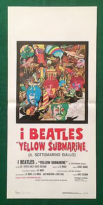 Yellow Submarine The  Beatles Lennon Italian Original Movie Poster Rolled
