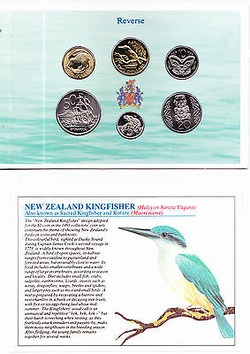 1993 PROOF SET NEW ZEALAND Kingfisher Cents & Dollars GGC Coin Collection