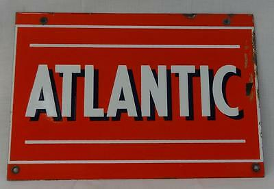 Rare Vintage Atlantic Gasoline Porcelain Sign NICE!
