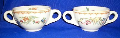 """Lot of 2 Vintage Floral Cups- 6"""" x 3 1/2"""" Marked BB7"""