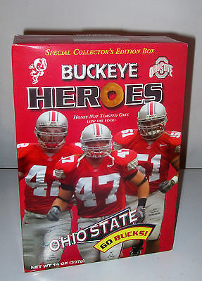 New - Collector's Edition Cereal Box - OHIO STATE BUCKEYES Heroes - OSU