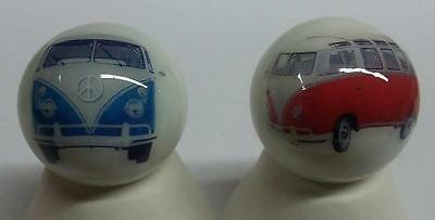 Very Nice Set of 2 Volkswagen Bus Glass Marbles
