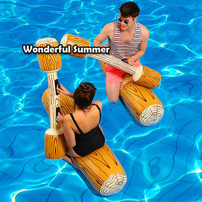 4 Pieces/set Joust Pool Float Game Inflatable Water Sports Bumper Toys For Ad...