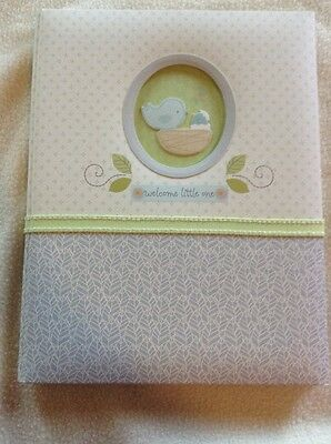 C. R. Gibson Baby Memory Book. First 5 Years. Welcome Little One. Bird Nest