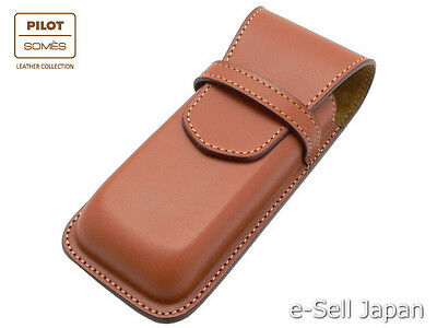 Pilot x SOMES Cowhide leather pen sheath for three pens SLS3-01-BN / Brown