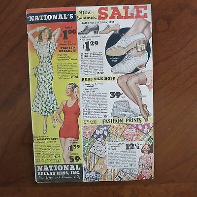 1934 Vintage National Catalog/SEXY Lingerie Corset/Wool Bathing Suit Nylons RARE