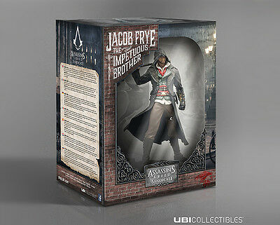 """Assassin's Creed Syndicate Jacob Statue Figure """"NEW"""" SEALED Litograph + """"GIFT"""""""