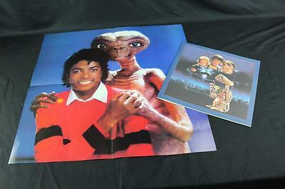 Vintage 1982 E.T. & Michael Jackson Special Edition Poster & Booklet EX Cond!