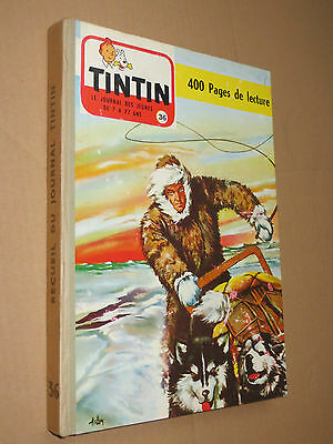 Recueil TINTIN N° 36  Reliure France SUPERBE + complet points TINTIN