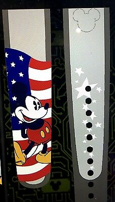 New Disney American Flag Patriotic Mickey Magic Band U Pick Color Link It Later