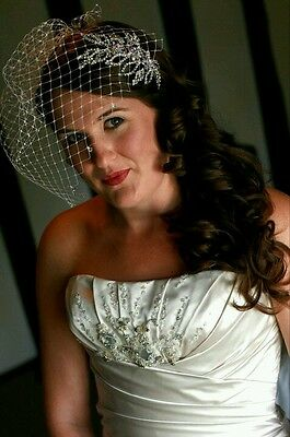 Richard Designs Vintage bird cage net veil Wedding dress accessory