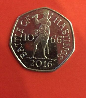 New 2016 Battle of Hastings 50p Fifty Pence Coin Rare