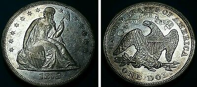 1872 $1 Liberty Seated Dollar