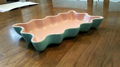 CALIFORNIA CATALINA POTTERY LOW SCALLOP DISH Rectangle Excellent Condition