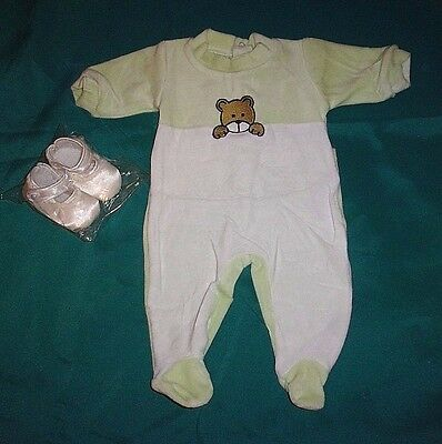 New Authentic My Twinn Toddler Satin Shoes And Teddy Bear Romper