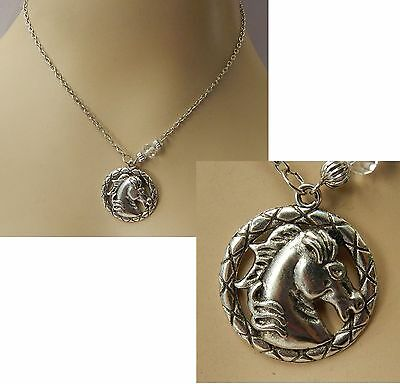 Silver Horse Silhouette Pendant Necklace Jewelry Handmade NEW Adjustable Fashion