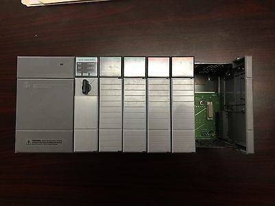 Allen- Bradley 1746-P2 Power Supply and 1746-A7 Rack with 5 cards