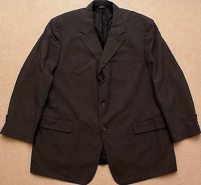46R BROOKS BROTHERS Mens 3 Button wool Suit Jacket Sport Coat Blazer, Gray