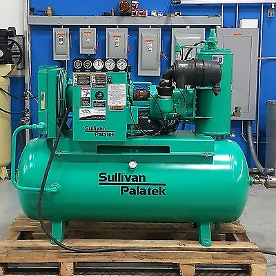 Used Sullivan Palatek 25 HP Rotary Screw Air Compressor 100 CFM Low Hours!