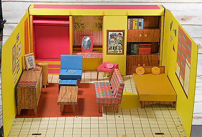 Vintage 1962 Mattel Barbie Dream House with Some Furniture