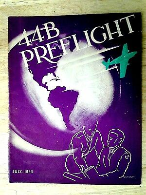 WW2 1943 Maxwell Alabama U.S Army Airforce Military Yearbook Class 44B PREFLIGHT