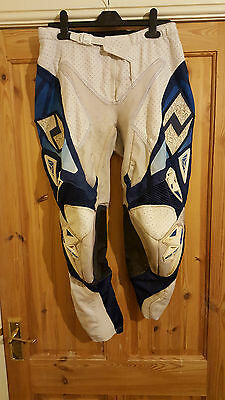 One Industries Defcon White Blue Motox Clothing Trousers Pants Motocross Kit 34