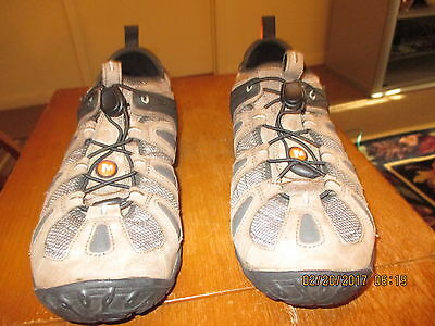 Men's Brown Fabric & Leather Merrell Continuum Lace Ups Sz.12-M