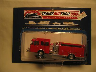 Trains and Such Hubtronics HO Scale Pumper Fire Truck With Flashing Lights