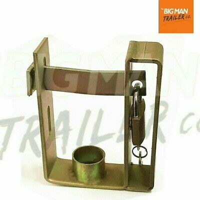 Trailer Hitch Coupling Lock Heavy Duty 2 Stage Universal Security + Padlock