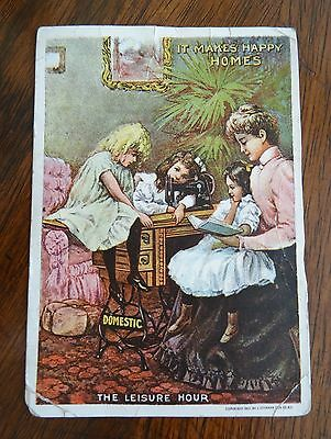 Number 8 Domestic Sewing Machine Victorian Trade Card