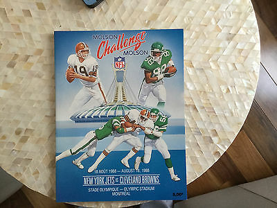 Molson Challenge  Jets Vs Browns  August 18 1988