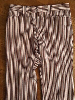 Vintage Levi's Polyester Red Check Pants Hippie Disco