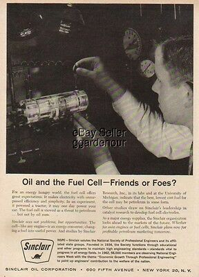 1962 Sinclair Oil~fuel cell energy vintage 60s photo ad