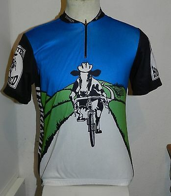 Holstein Hundred Cows Men's Short Sleeved Cycling Bike Jersey Large