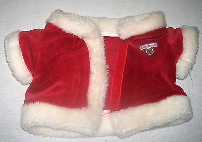 Teddy Ruxpin Worlds of Wonder Replacement Soft RED SANTA JACKET w/ Velcro