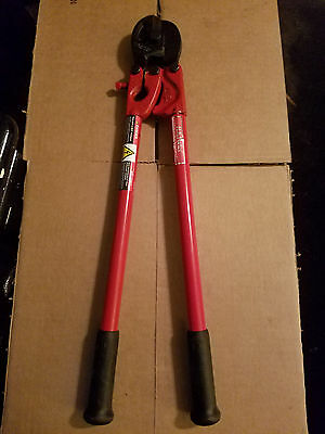 "NEW-HK Porter 24"" Shear Type Cable Cutter for Wire Rope up to 3/8"" Tubular Steel"