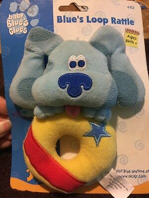 NEW Baby Blues Clues *Plush Blue's Loop Rattle* HTF