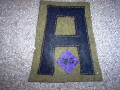 WWI US Army patch First 1st Army MG unit Patch AEF
