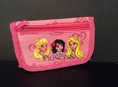 Junior Elf Fairytale Princesses, Girl's Trifold Wallet, Pink
