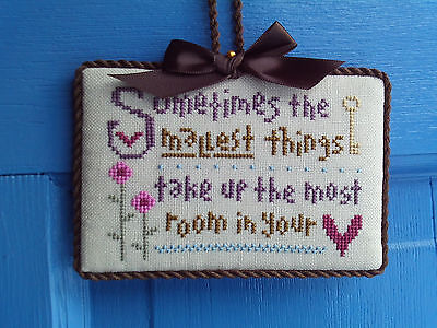 finished completed Lizzie Kate Small things heart cross stitch ornament